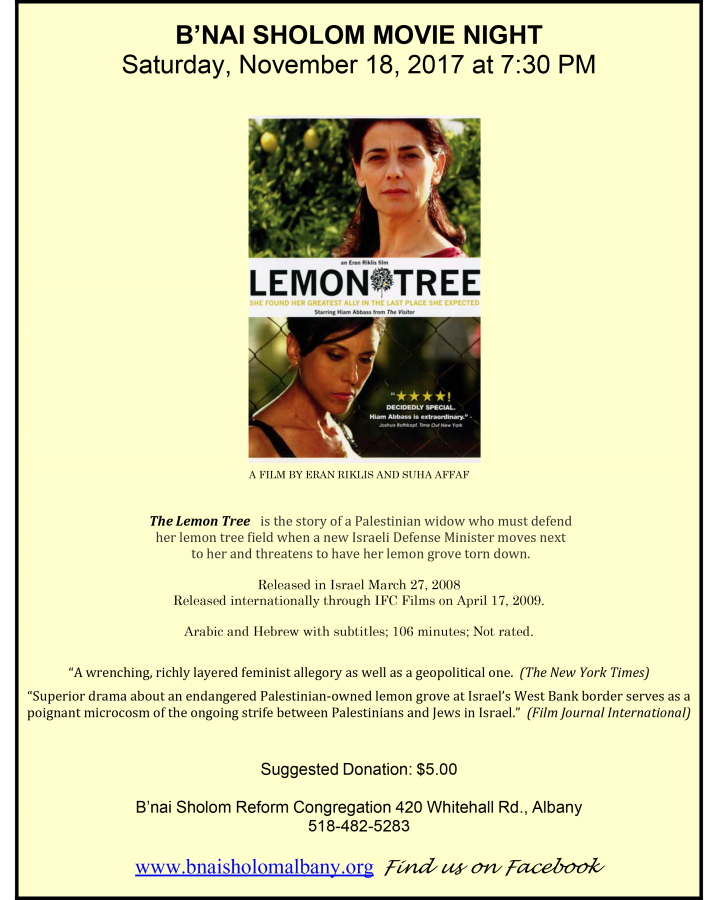 Lemon Tree poster r900