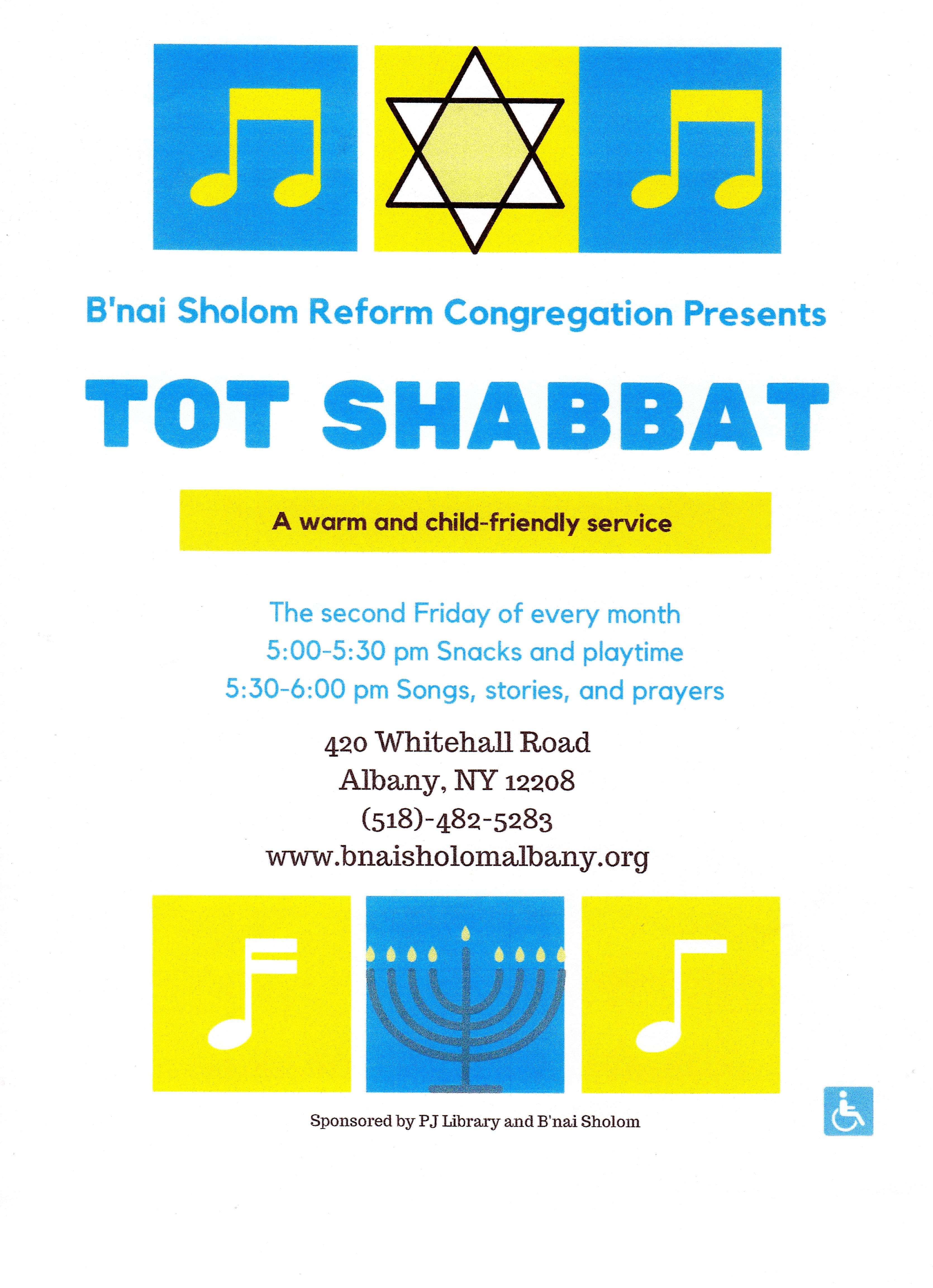 Monthly Tot Shabbat Service